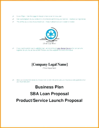 Business Plan Cover Page Design Title Template Format