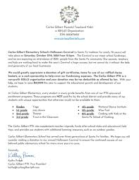 carnival donation letter