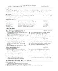 Student Nurse Sample Resume Sample Resume Nursing Student Sample ...