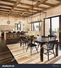 Kitchen Dining Light Fixtures Beautiful Dining Room Kitchen New Luxury Stock Photo Edit