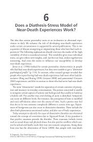 does a diathesis stress model of near death experiences work inside