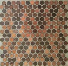 Amazon.com: Copper Zinc Penny Round Coin Tile Sheets for Floor or Wall Art  By: Stone Deals: Home & Kitchen