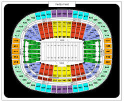 fedex field seat map