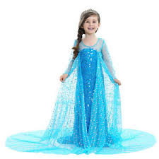 Image Is Loading Luxury Princess Dress For Elsa Costumes Girls 039