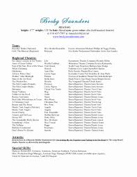 Musical Theatre Resume Theater Resume Template Lovely Cover Letter Sample Musical Theatre 16