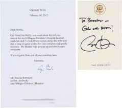 LETTERS TO BROOKS ROBINSON FROM GEORGE BUSH AND PRESIDENT OBAMA
