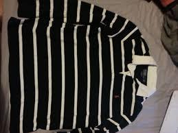 ralph lauren long sleeve rugby shirt black white striped