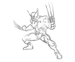 Small Picture Printable Coloring Pages Wolverine Coloring Pages