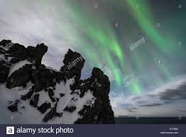 How Is The Northern Lights Formed Northern Lights Above Formation Of Sedimentary Rocks In The