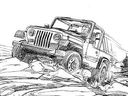 Jeep Wrangler Coloring Page For The Kids Jeep Coloring Book