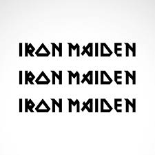 Simple color vinyl Iron Maiden Logo | Stickers Factory