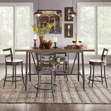 Thompson Counter Height Swivel Dining Table Set by iNSPIRE Q Classic by  iNSPIRE Q