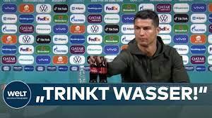 ABRÄUMER der EM: CRISTIANO RONALDO holt COLA-FLASCHEN vom Podium -  UEFA-Sponsor Coca Cola düpiert - YouTube