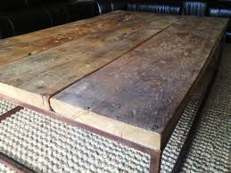 industrial look coffee table hand crafted industrial style coffee table by e b mann