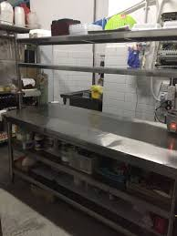 Commercial Stainless Steel Big Kitchen Work Table Home Appliances