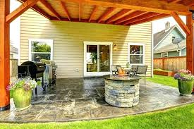 deck fire pit designs stone on patio under covered back porch with regard to remodel 9