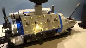 large scale lego ford flathead v8 engine moc