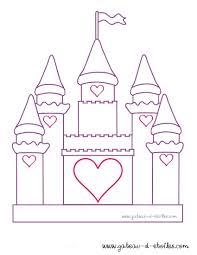 Unique Coloriage De Chateau De Princesse A Imprimer