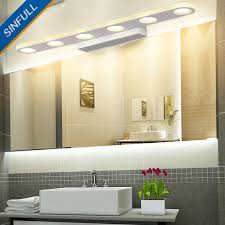 modern creative mirror front lamp minimalist bathroom led wall light makeup waterproof led indoor lighting fixtures