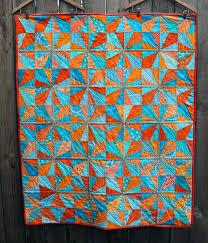 blue orange finished modern kids quilt | Blue and Orange ... & blue orange finished modern kids quilt Adamdwight.com