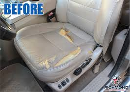 2002 2003 ford f 250 lariat perforated leather seat cover driver bottom tan