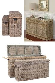 wicker rattan storage trunks chests