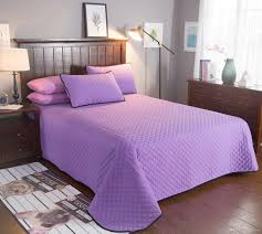 elegant korean cotton solid purple color printing bedding sets single twin full queen king size bed sheet bedclothes bedspreads pillow shams comforters sets
