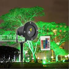 remote controllable laser outdoor garden light red and green