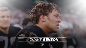 Raiders release statement on the passing of Duane Benson