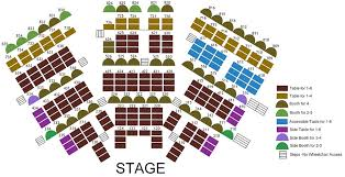 Myth Live Seating Chart Seating Charts Chanhassen Dinner Theatres