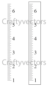Ruler Growth Chart Vector Template Inches Growth Chart