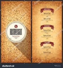 Restaurant Menu Design Vector Menu Brochure Stock Vector 604646813 ...