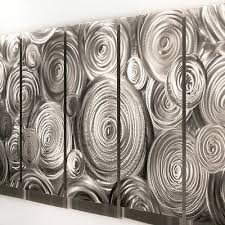 impressive silver abstract metal wall