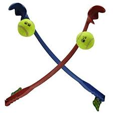 ball thrower. new dog ball launcher thrower with tennis ball, long handle, great fun for dogs