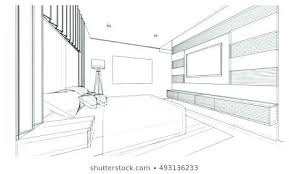 Interior design drawings perspective Apartment Interior Room Design Sketch Interior Design Of Modern Style Bedroom Wire Frame Sketch Perspective Pooja Room Design Concursuripw Room Design Sketch Interior Design Of Modern Style Bedroom Wire