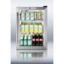 Small Bedroom Fridges Summit Appliance 25 Cu Ft Glass Door Mini Refrigerator In Black