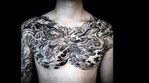 тату дракон на груди 40 татуировок с изображением дракона на груди