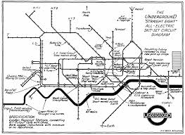 "4 henry charles beck underground ""straight eight"" all electric skit set circuit diagram march 1933 drawing in train omnibus and tram staff magazine"