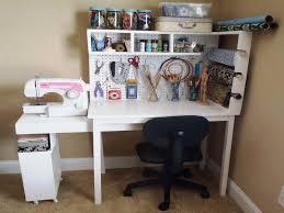 elegant living room with crafts wood desk pink shades