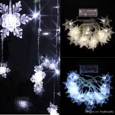 indoor christmas lighting. Plain Christmas Battery Power Led String Light 7 Feet Indoor Christmas Tree 20  Snowflake Fairy Strings For Birthday Party Wedding Decor Clear Bulb  Throughout Lighting