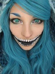 37 scary face makeup ideas cosplay chesire cat