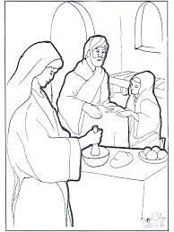 Maria Martha En Jezus Bijbel Kleurplaten Nieuwe Testament