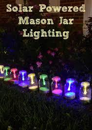 lighting jar. How To Make Solar Powered Mason Jar Lights With String Lighting. Beautiful Outdoor Lighting