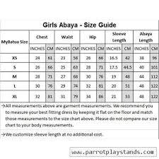 Burqa Size Chart Fara Black Crepe Islamic Kids Abaya Burqa Ay 327 K