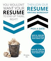 resume writing workshop alumni relations and career services resume writing workshop