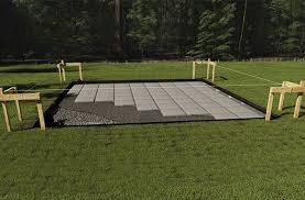 on grade foundation concrete pavers