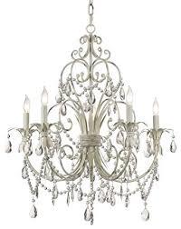 remarkable antique white chandelier at cau vieux collection five light kathy