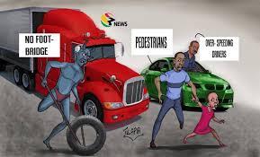 Tv3gh On Twitter Cartoon The Wahala Of Ghanaian Pedestrians