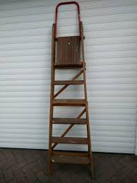 wooden folding step ladders