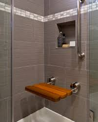 cool picture of bathroom shower decoration with various shower bench ideas classy small grey bathroom